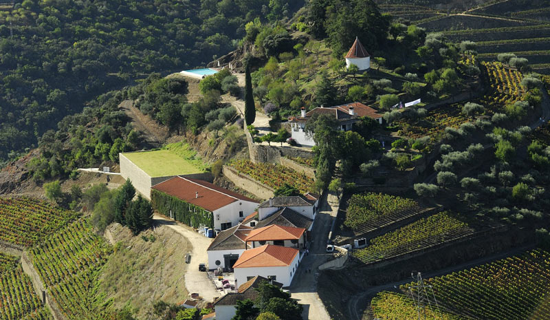Winemaking in the Douro Valley | Quinta do Crasto - Aerial View